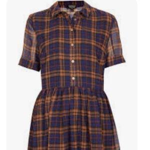 TOP SHOP Plaid Dress